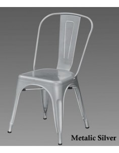 CHAISE METAL GRIS