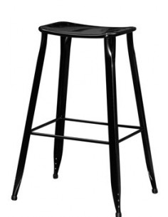 TABOURET BAR METAL NOIR